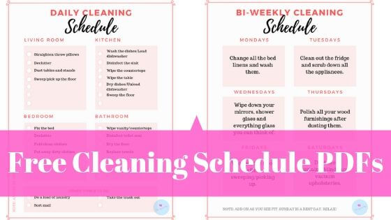 cleaning schedule pdf free