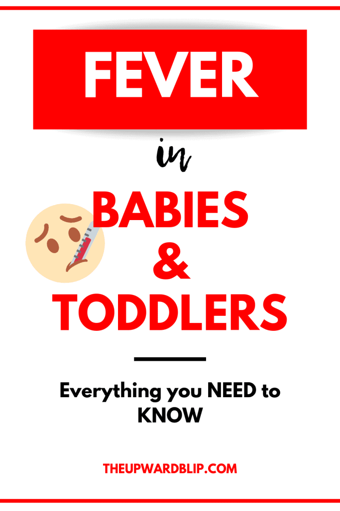 fever in babies and toddlers pin image