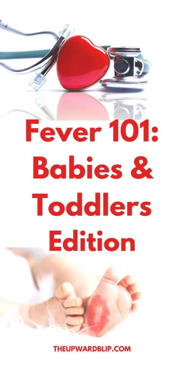 fever in babies and toddlers explained pin image