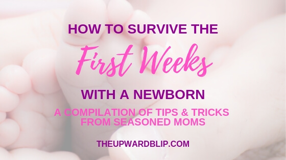 Blog Banner for First Weeks with a Newborn Guide