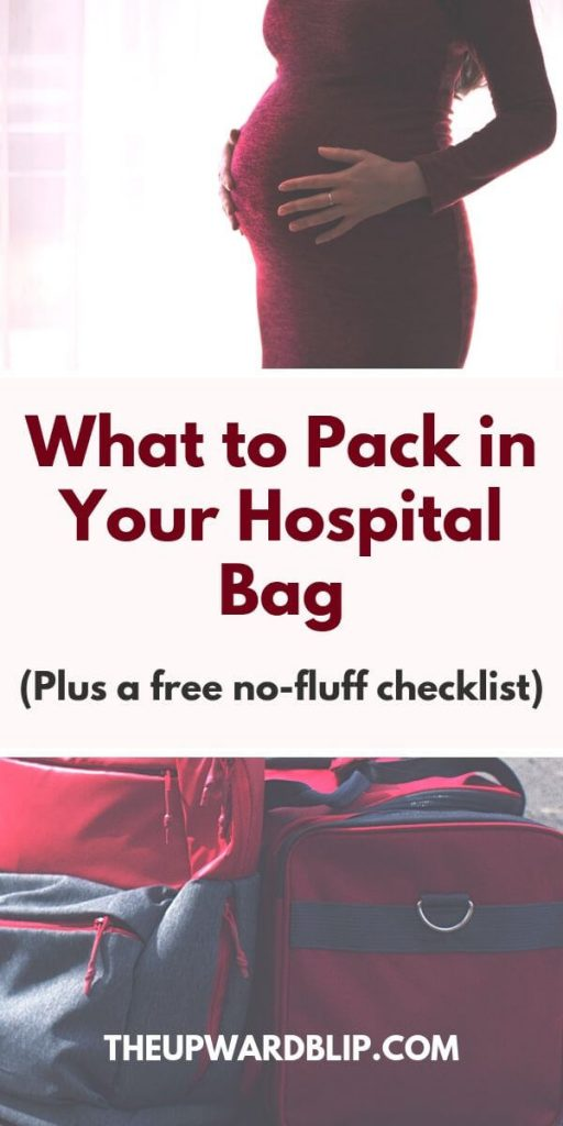 Hospital bag essentials pin image