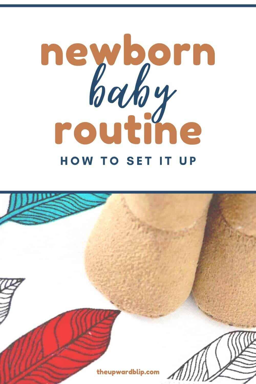 pin image for setting up a baby routine