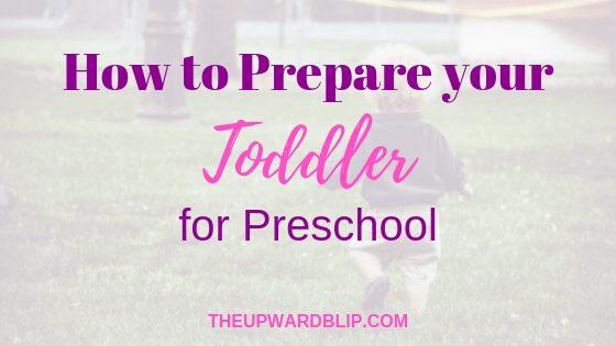 Toddler Preparation for Preschool Blog Banner