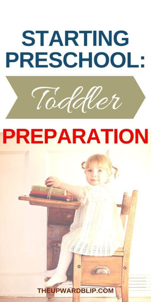 Toddler Starting Preschool pin image