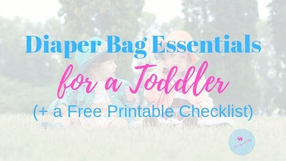 Diaper bag essentials for toddlers image