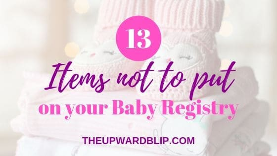 items not to put on baby registry blog banner