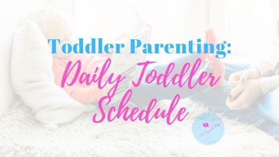 daily toddler schedule featured image