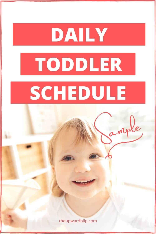 toddler schedule pin image