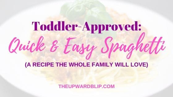Easy Spaghetti recipe for your toddler