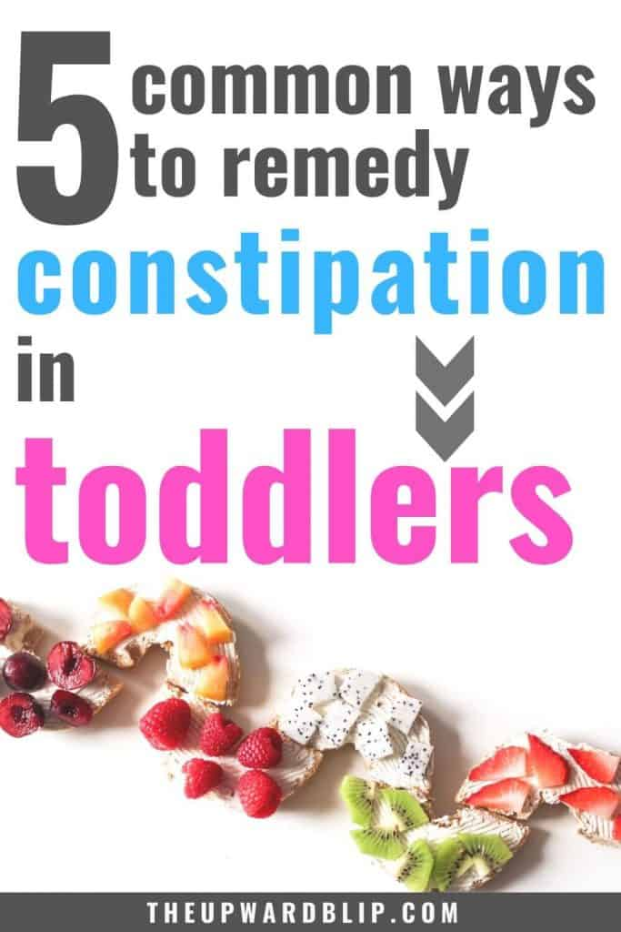 constipation in toddlers natural remedies pin image