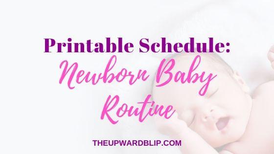 baby routine blog post banner
