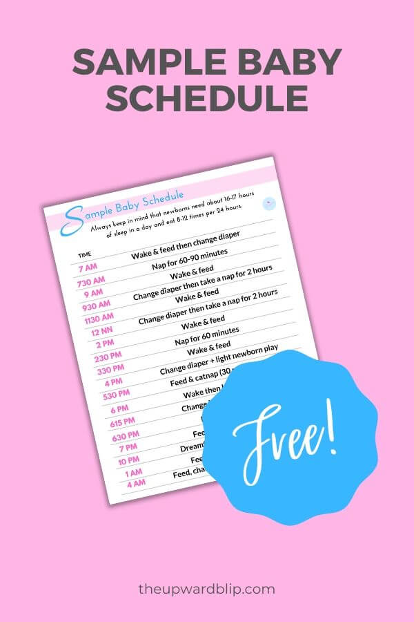 mockup for baby schedule sample