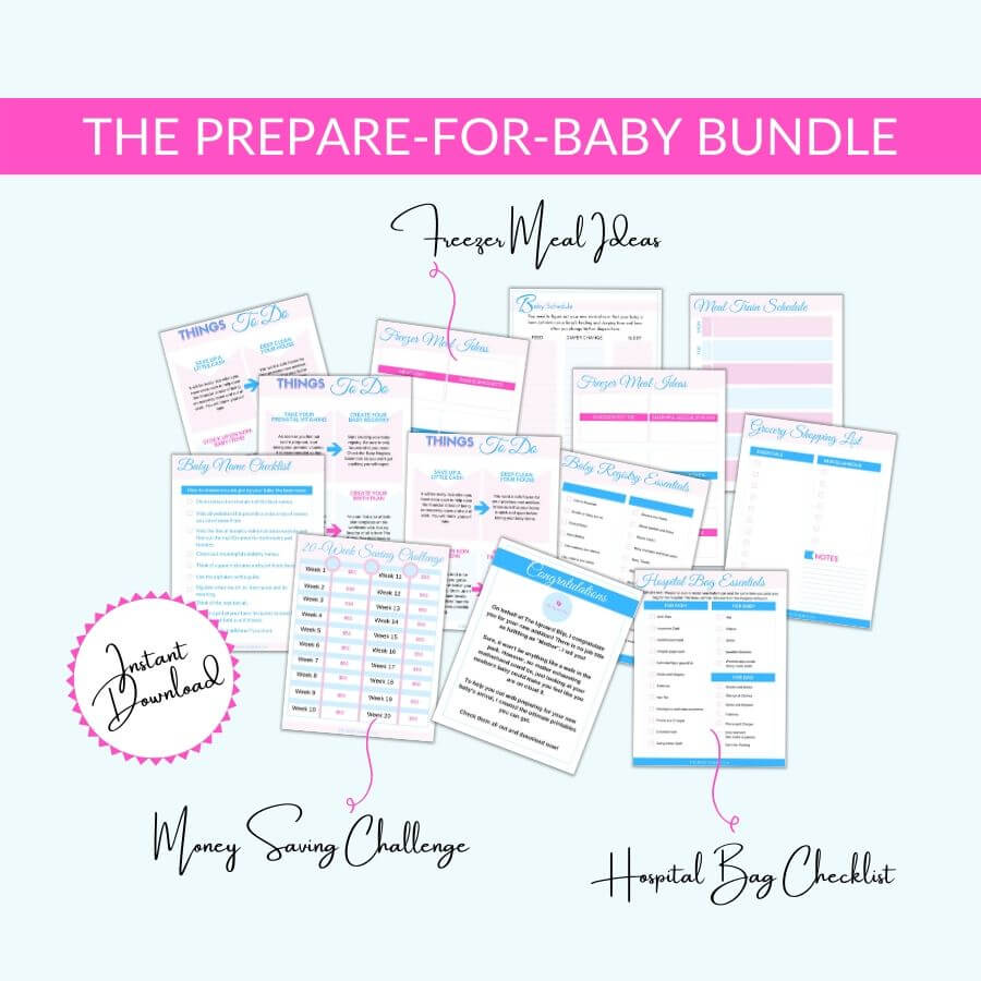 mockup for the prepare-for-baby bundle