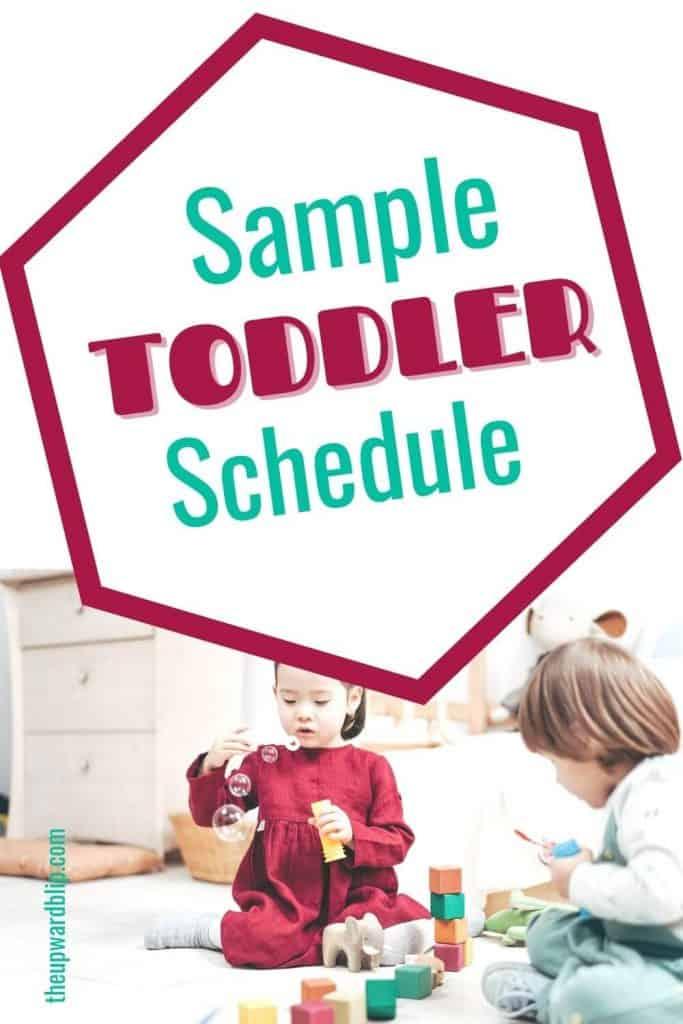 toddler schedule sample pin image