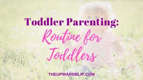 daily toddler schedule blog banner