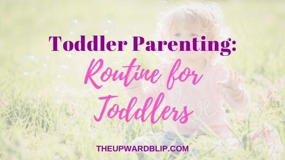 daily toddler schedule blog banner